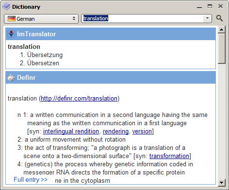 QTranslate screenshot